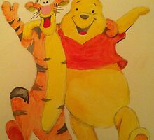 Pooh and Tigger by dennysart