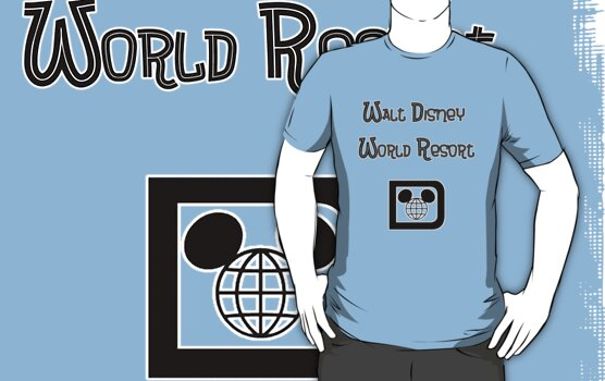 Walt Disney World Resort Retro 001 Black by AngrySaint