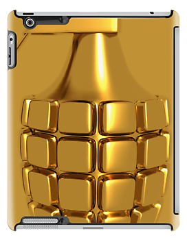 Golden Hand Grenade  iPad Case / iPhone 5 Case / iPhone 4 Case / Samsung Galaxy Cases  / Pillow / Tote Bag  by CroDesign