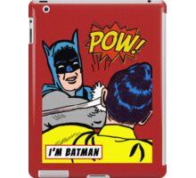 Caped Crusader slapping Robin iPad Case/Skin