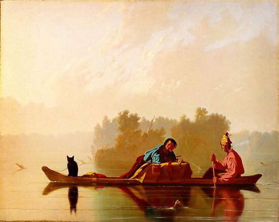 George Caleb Bingham Fur Traders Descending the Missouri WGA2205 by Adam Asar