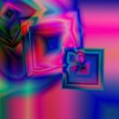 Multi-coloured abstract squares by SteveHphotos