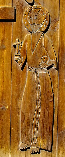Wood-Carved Church Door by David DeWitt