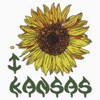 I LOVE KANSAS T-shirt by ethnographics