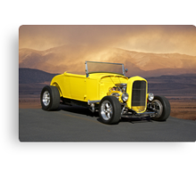 1932 Yellow Roadster Canvas Print
