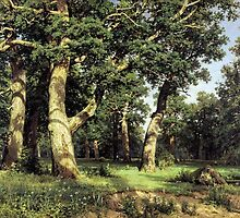 Ivan Shishkin   Russian Art.  The Oak Grove (1887) by Adam Asar