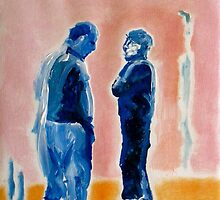 Men in Conversation 2 by eolai