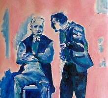 Men in Conversation 1 by eolai