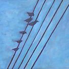 Birds, Wires 1 by eolai