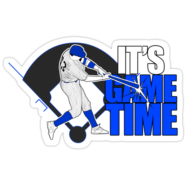 It's Game Time - Baseball (Blue) by Adamzworld