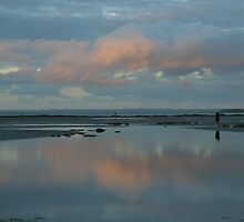 Last light at low tide by Greta van der Rol
