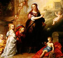 josina copes van westrum and her children by Adam Asar