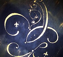 Abstract Fleur de Lis Saints Inspiration by Anne Thigpen
