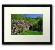 Viator's Bridge at Milldale, Staffordshire  Framed Print
