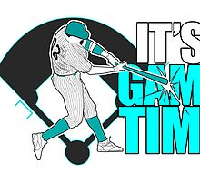 It's Game Time - Baseball (Aqua) by Adamzworld