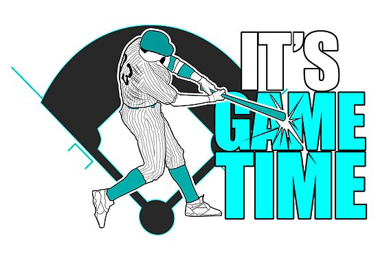 It's Game Time - Baseball (Aqua) by Adamzworld