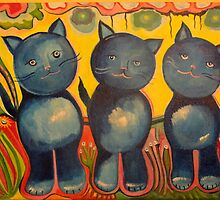 Three Blue Kittens by Shelby Harbison