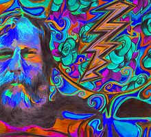 """Brent Mydland - Brent is  Blue"" by Kevin J Cooper"