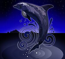 Dolphin - Night by Adamzworld