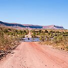 Gibb River Road at the Pentecost River crossing. by Colin White