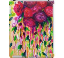 ROSES ARE RAD - Bold Fun Red Roses Floral Bouquet Vines, Flowers Abstract Acrylic Painting Fine Art iPad Case/Skin