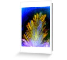 """""""Peacock Feather"""" by Chip Fatula Greeting Card"""