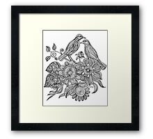 Bird Doodle - Work in Progress Framed Print