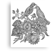 Bird Doodle - Work in Progress Canvas Print