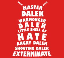 Master Dalek ('Soft Kitty' style) WHITE Kids Clothes