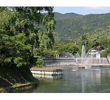 View on river in Japan Photographic Print
