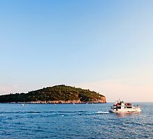 Lokrum Island at Sunset by Artur Bogacki
