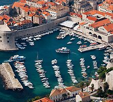 Marina and Old City of Dubrovnik by Artur Bogacki