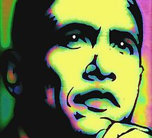 PRESIDENT BARACK OBAMA by OTIS PORRITT