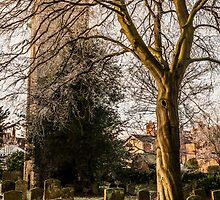 Winter at St Mary Magdalene's, Stony Stratford by David Isaacson