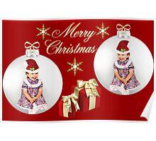 ツ SMILES MERRY CHRISTMAS ツ Poster
