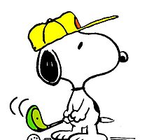 Golf Player Snoopy by gleviosa