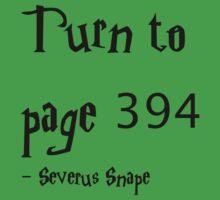 Turn to Page 394 Severus Snape Harry Potter by cjcandhm