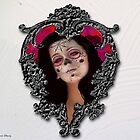 Heart Frame Day of the Dead Valentine by Diana Shively
