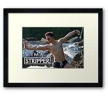 I'm a Stripper - Suntory Framed Print