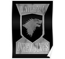 Winterfell Direwolves Poster