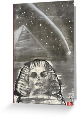 Sphinx and Pyramid I by Origa