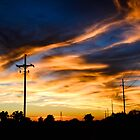 Kansas Road at Sunset by kgarlowpiper