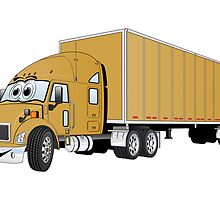 Semi Truck Gold Trailer by Graphxpro