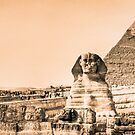 Well Worn Roads - Egyptian Sphinx Panorama by Mark Tisdale