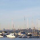 Yacht - Emeryville, CA Shoreline by photoartful
