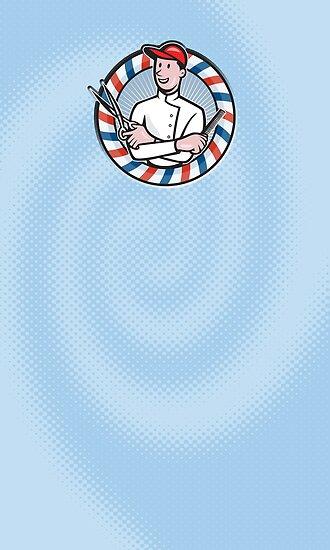 Barber Comb and Scissors Cartoon by patrimonio