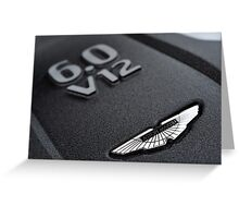 The new Aston Martin Vanquish ... Greeting Card