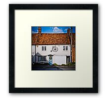 Penny Farthing Cottage Framed Print