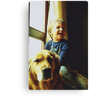 Blue and Tommy Canvas Print