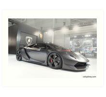 Lamborghini Sesto Elemento Art Print